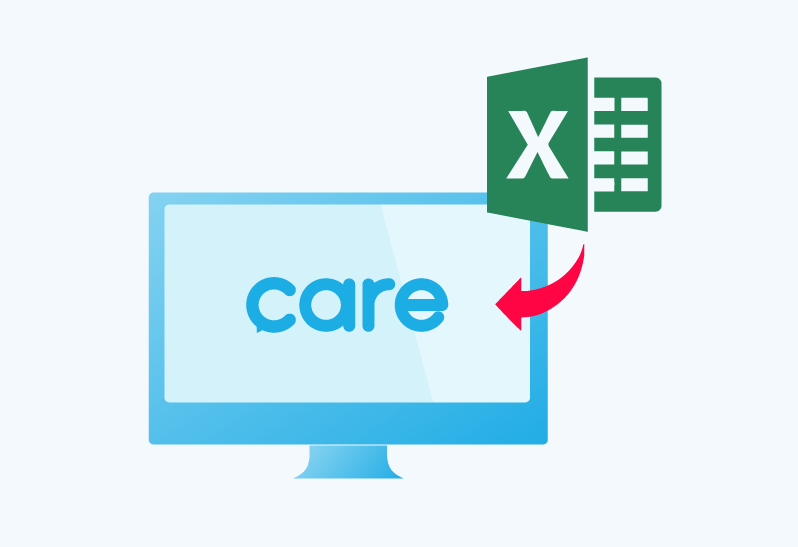 care補教管理系統-EXCEL匯入匯出舊資料